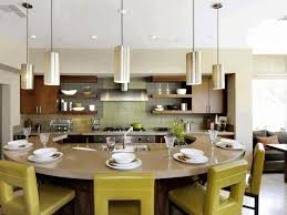 circular kitchen island chic olive green leather dining chair semi circular wooden kitchen