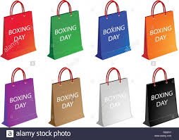 christmas shopping bags boxing day with paper shopping bags sign for start christmas