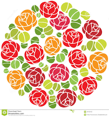 flowers ornament in circle stock photos image 34495463