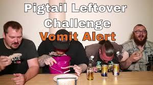 Challenge Vomit Pigtail Leftover Challenge Vomit Alert