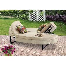 Outdoor Chaise Lounge Chairs Amazon Com Orbit Chaise Lounger Tan Seats 2 This Patio Chaise