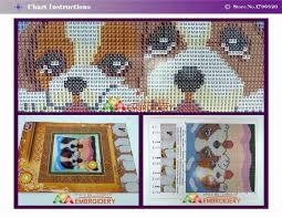 new 3d latch hook pillow kits animals lazy dog diy needlework