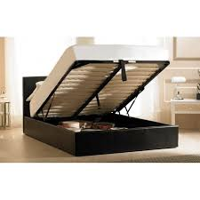 beds black leather madrid ottoman bed