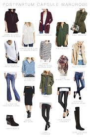 Wardrobe Clothing Comfortable Affordable Post Partum Capsule Wardrobe