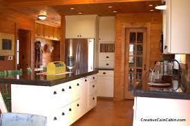 black kitchen cabinets in log cabin white kitchen in a log home creative cain cabin