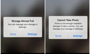 iphone cannot take photo thủ thuật iphone và ipad báo hết dung lượng trong bài viết này có