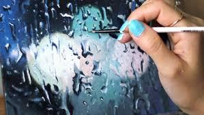 painting on glass windows painting the rain youtube