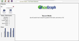 acugraph 5 video training patient management
