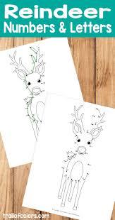 free printable reindeer activities printable reindeer dot to dot number and alphabet number