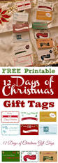 the 12 days of christmas ideas printable gift tags simple