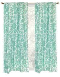 decorative horse aqua children room print window curtains
