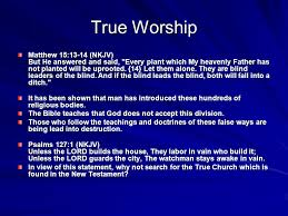 Who Leads The Blind True Worship Why Denominationalism Is Wrong Ppt Download