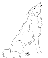 cartoon animal howling wolf coloring pages 00 wolf