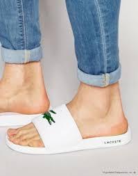 online shop for lacoste fraisier croc slider flip flops white