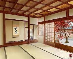 lighting in ceiling living room in japanese sliding door beside