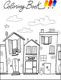 coloring book for children street royalty free cliparts vectors