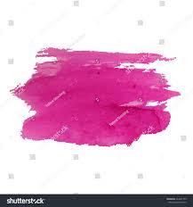Pink Color Watercolor Brushstroke Background Pink Color Grunge Stock Vector