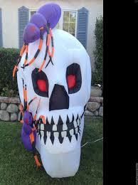 halloween inflatable rare 6ft tall halloween inflatable skeleton two spiders on head