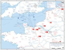 Ww2 Europe Map Allied Invasion Of France 1944