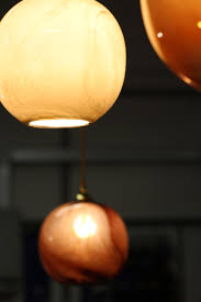 Amber Glass Pendant Lights by Mineral Hand Blown Glass Pendant Lights In Agate Red And Marble