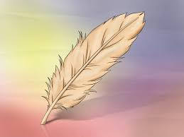 how to draw a feather 8 steps with pictures wikihow