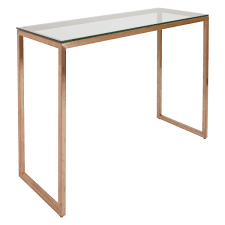 Glass Console Table Tilda Glass Console Table With Copper Base Buy Now At Habitat Uk