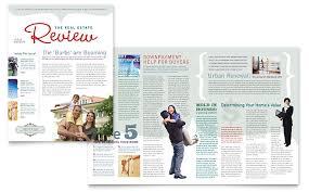realtor u0026 realty agency newsletter template design real estate