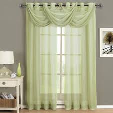 Mint Green Sheer Curtains Sheer Curtains Panel Window In Olive Green