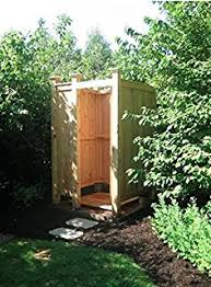 Outdoor Shower Room - amazon com deluxe house mount outdoor shower kit with changing