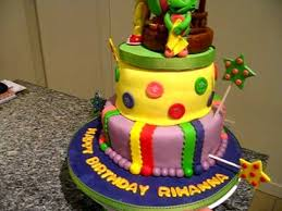 barney birthday cake barney and friends fondant birthday cake