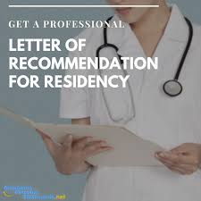 write a letter of recommendation for residency