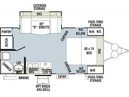 Rockwood Camper Floor Plans 2015 Forest River Rockwood Mini Lite 2104s Travel Trailer
