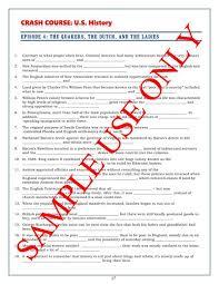 crash course u s history worksheets episodes 1 5 worksheets