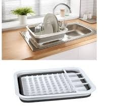 Dish Drying Rack For Sink Collapsible Folding Dish Drainer Camping Caravan Boat Dish Drainer