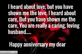 happy anniversary wishes with a great message for dear husband