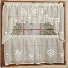 hydrangea semi sheer kitchen u0026 tier curtains commonwealth