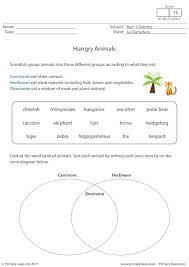 primaryleap co uk hungry animals worksheet