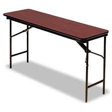 18 x 72 folding table iceberg premium 72 x 18 wood folding table select color sam s club
