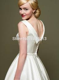 simple cheap discount 1950s vintage inspired short tea length