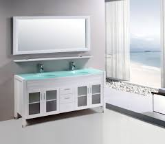 60 inch double sink bathroom vanity cabinet white with mirror