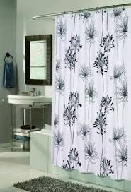 Shower Curtains White Fabric Charming Shower Curtains White Fabric Inspiration With Black And