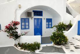 traditional house in santorini greece stock photo picture and
