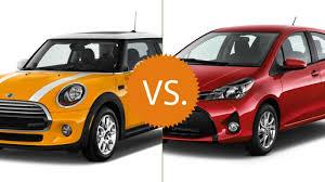 nissan versa vs toyota yaris compare 2016 mini cooper vs 2016 toyota yaris cars pinterest