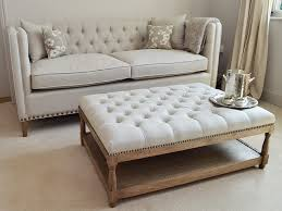 Using An Ottoman As A Coffee Table Stylish Tufted Ottoman Coffee Table