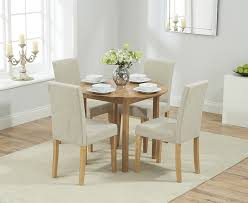 Buy Mark Harris Promo Solid Oak Cm Dining Set With  Atlanta - Cream kitchen table