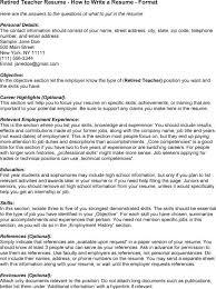 sample resume for retired teacher resume ixiplay free resume samples