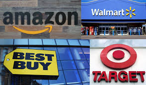 best buy quarterly sales amazon rivals walmart best buy and target boost spending on e