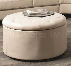 White Leather Storage Ottoman Top 8 Modern Leather Ottomans With Storage Furniture