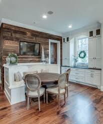 Dining Room Accent Wall by Nashville Curved Bench Seating Kitchen Traditional With Wood