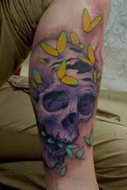 of skull and butterfly design tattoomagz